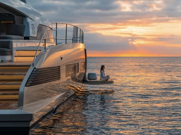 Lagoon Seventy 8 sunset