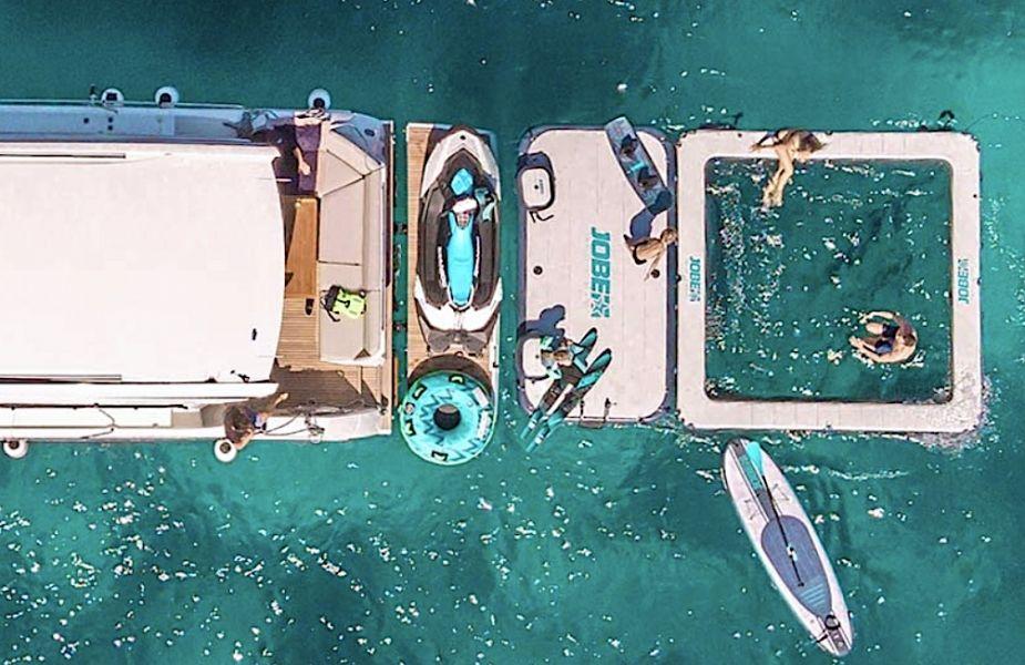 Floating platform extension and swimming pool for boats - USHIP Alicante - Tienda Náutica copia