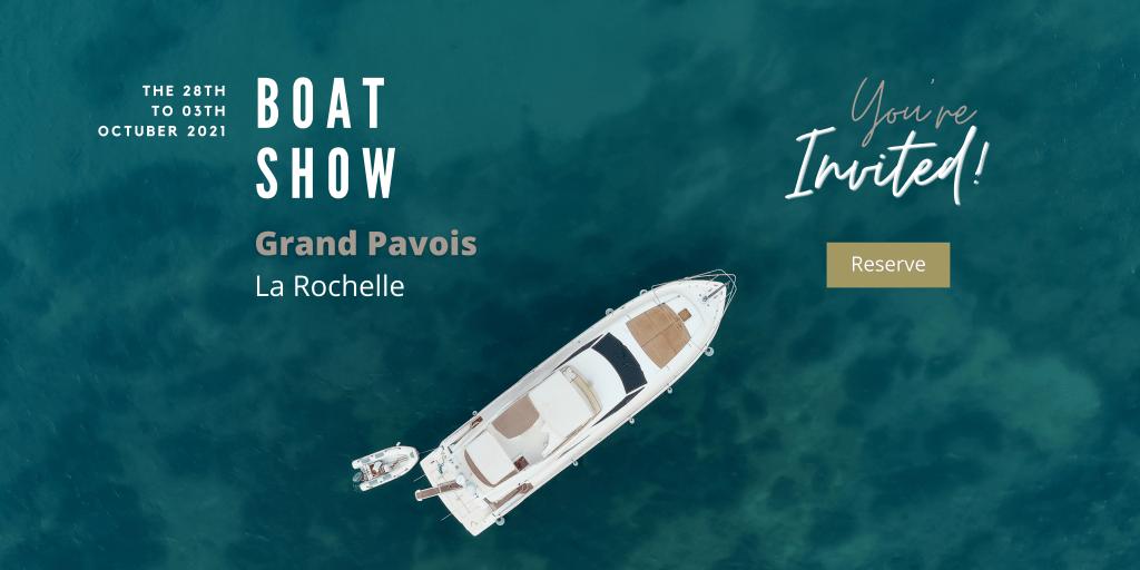 Invitation BOAT SHOW- Grand Pavois-la Rochelle